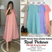 DAISY Homey Dress Cotton Busui Friendly - Daster Wanita Katun AllSize fit up to L besar