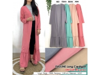 PAULINE Ruffle Long Cardigan Wanita - Outer AllSize fit up to L
