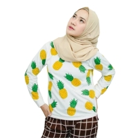FRUITTY Sweater Wanita Pineapple - Sweater NANAS AllSize