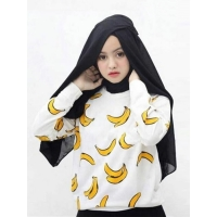 FRUITTY Sweater Wanita Banana - Sweater PISANG AllSize