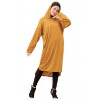 YOVITA Tunic Jumbo Hoodie for Women - Big Size Sweater Dress fit up to XL