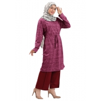 OLIVIA Tunik Dress Wanita Pinggang Serut Busui Jumbo/Big Size fit up to L besar (2)