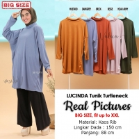 LUCINDA Tunik Dress Turtleneck Jumbo Wanita - Big Size Fit up to XXXL (4)