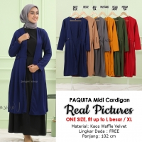 PAQUITA Midi Cardigan Klep Kancing AllSize - Outer Wanita fit up to XL