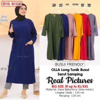 OLLA Long Tunik Busui Serut Samping Jumbo/Big Size fit up to XL/XXL (3)