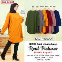 DENISE Tunik Busui Friendly Lengan Balon - Atasan Wanita Jumbo Big Size fit up to XL (2)