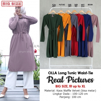 OLLA Long Tunik Tali Pinggang Jumbo/Big Size fit up to XL