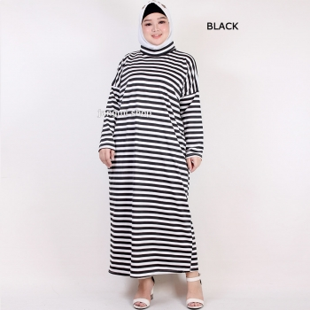 Andien/Mieke Stripes Gamis Jumbo - Maxi Dress Big Size (2)