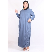 ALLISA Gamis Jumbo Polos Busui Friendly - Dress Muslim AllSize fit up to XXL