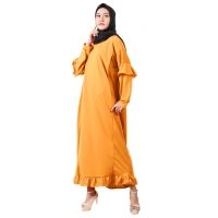 NELIA Gamis Jumbo Ruffle Busui Friendly - Dress Muslim Big Size fit up to XXL