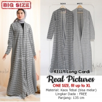 KELLY Long Cardigan - Kardigan Panjang Outer Jumbo / Big Size fit to XL (2)