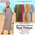 MELANI Gamis Jumbo Busui Friendly - Dress Muslim Big Size fit up to XXL