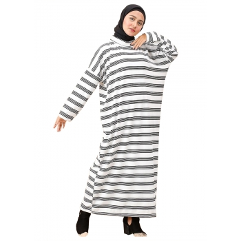 DANIELLA Gamis Jumbo Salur Turtleneck - Dress Muslim Big Size fit up to XXL