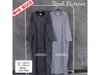 DAHLIA/Kalila Gamis Turtleneck Jumbo Misty - Dress Wanita Maxi Big Size