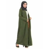 KIRANA Long Cardigan Wanita - Outer Luaran Muslim AllSize fit up to L besar / XL