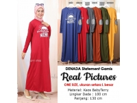 DENADA Good Morning Gamis Wanita Statement AllSize - Dress Muslim fit up to L besar