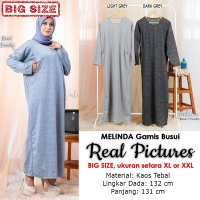 MELINDA Gamis Jumbo Wanita Busui Friendly - Baju Muslim Big Size fit up to XXL