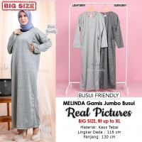 MELINDA Gamis Jumbo Wanita Busui Friendly - Baju Muslim Big Size fit up to XL (2)