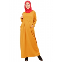 JENIFER Gamis Jumbo Wanita 2 Kantong Busui Friendly - Dress Muslim Big Size fit up to XXL