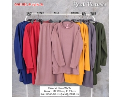 CONNIE Setelan Atasan Turtleneck dan Rok Maxi AllSize fit up to XL
