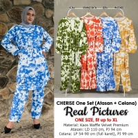 CHERISE One Set Atasan Tunik dan Celana Panjang Wanita - Jumbo AllSize fit up to XL