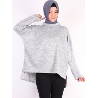 TRUDY Blouse Wanita Jumbo Turtleneck - Atasan Big Size fit up to XXL (2)