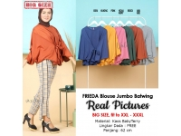 FRIEDA Blouse Batwing Jumbo Fit XXL LD FREE up to 150 cm - Atasan Big Size