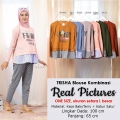 TRISHA Friday Blouse Kombinasi Lengan Panjang - Sweater Wanita AllSize fit up to L besar
