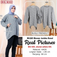 BILQIS Blouse Jumbo Busui Friendly - Atasan Wanita Big Size Fit up to XXL