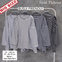 GANESHA Blouse Jumbo Busui Salur Lengan Panjang - Atasan Big Size fit up to XXL