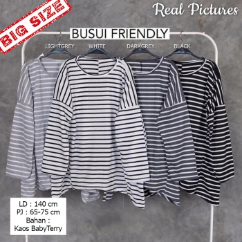 GANESHA Blouse Jumbo Salur Lengan Panjang - Atasan Big Size fit up to XXL