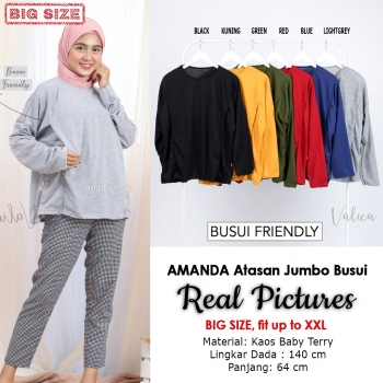 AMANDA Atasan Jumbo Busui Friendly Big Size fit up to XXL
