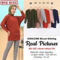 GERALDINE Atasan Kaos Batwing Jumbo - Blus Wanita Big Size fit up to XXL (6)