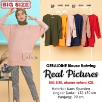 GERALDINE Atasan Kaos Batwing Jumbo - Blus Wanita Big Size fit up to XXL (5)