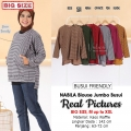 NABILA Blouse Jumbo Wanita Busui Friendly - Atasan Big Size Fit up to XXL