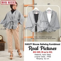 HAILEY Blouse Wanita Batwing Kombinasi Big Size - Jumbo fit up to XXL (5)