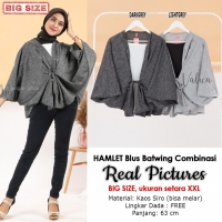 HAMLET Blouse Wanita Batwing Kombinasi Big Size - Jumbo fit up to XXL (2)