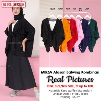 MIRZA Blouse Batwing Jumbo Serut Kombinasi - Atasan Wanita Big Size fit up to XXL