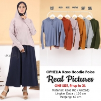 OPHELIA Atasan Kaos Hoodie Wanita - Sweater Lengan Panjang AllSize fit up to XL