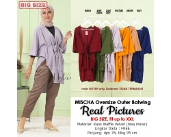 MISCHA Outer Batwing Oversize - Cardigan Kalong Big Size fit up to XXL
