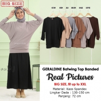 GERALDINE Atasan Kaos Batwing Jumbo - Blus Wanita Big Size fit up to XXL (13)