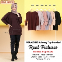 GERALDINE Atasan Kaos Batwing Jumbo - Blus Wanita Big Size fit up to XXL (10)