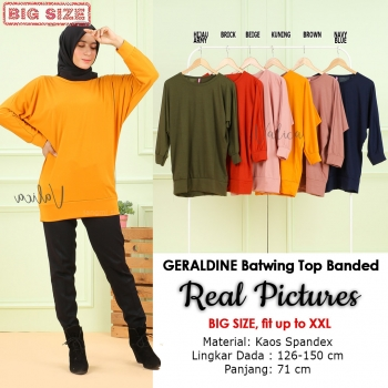 GERALDINE Atasan Kaos Batwing Jumbo - Blus Wanita Big Size fit up to XXL (11)
