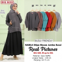 NABILA Stripe Blouse Jumbo Wanita Busui Friendly - Atasan Big Size Fit up to XXL (3)