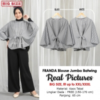 FRANDA Blouse Jumbo Wanita Batwing Monochrome - Atasan Big Size fit up to XXXL (2)