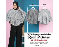 FREYA Blouse Jumbo Batwing - Atasan Wanita Big Size fit up to XXL (5)