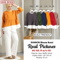 SHANON Blouse Jumbo Busui Friendly - Atasan Wanita Big Size fit up to XL