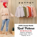 SHERYL Kemeja Wanita Oversize / Jumbo - Blouse Big Size fit up to XXL