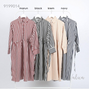 YOKE Midi Shirt Dress Wanita Salur Busui Friendly - Baju Muslim AllSize