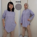GEMMA Kemeja Tunik Wanita Size M, L, XL Busui Friendly (PURPLE)